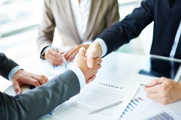 Handschlag Unternehmen Vorstellungsgespräch Ausbildung